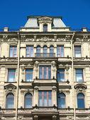 Fragment of a building facade on Nevsky — Stock Photo