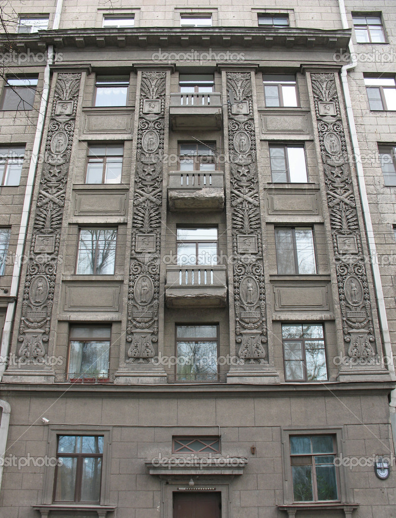 The house of Stalinist architecture. St. — Stock Photo ...