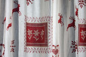 Austrian curtains — Stock Photo