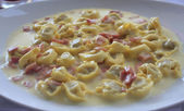 A plate of tortellini — Stock Photo