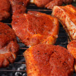Stockfoto: Barbecue / Meat on grill