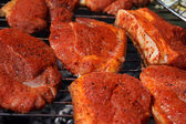 Barbecue / Meat on the grill — Foto de Stock