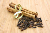 Cinnamon sticks and cloves — Stock Photo