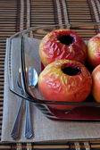 Pommes cuitessurface texturée d'ananas — Photo