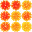 Stock Photo: Nine oranges