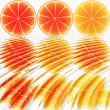 Nine oranges ripples - Stock Photo