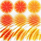 Nine oranges ripples — Stock Photo