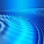 Постер, плакат: Blue glowing ripples