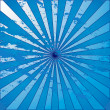 Stock Photo: Blue grunge starburst