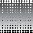 Black white halftone dots - Stock Photo