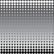 Stock Photo: Black white halftone dots