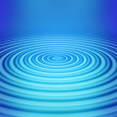 Big concentric ripple — Stock Photo