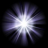 Blue white star 2 — Stock Photo