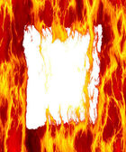 Fire frame white — Stock Photo