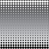Black white halftone dots — Stock Photo