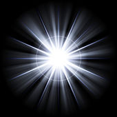 Irregular blue white star 3 — Stock Photo