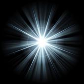 Irregular blue white star 5 — Stock Photo