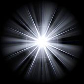 Irregular white star 3 — Stock Photo