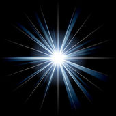 Irregular blue white star 2 — Stock Photo