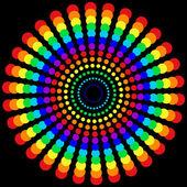 Rainbow dots sphere — Stock Photo