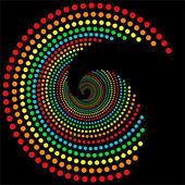 Regenboog stippen spiraal 2 — Stockfoto