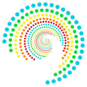 Rainbow dots spiral 2 — Stock Photo