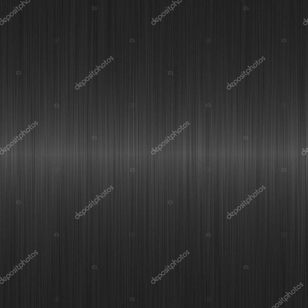 Dark grey brushed metal background with horizontal highlight — Stock Photo #2272089