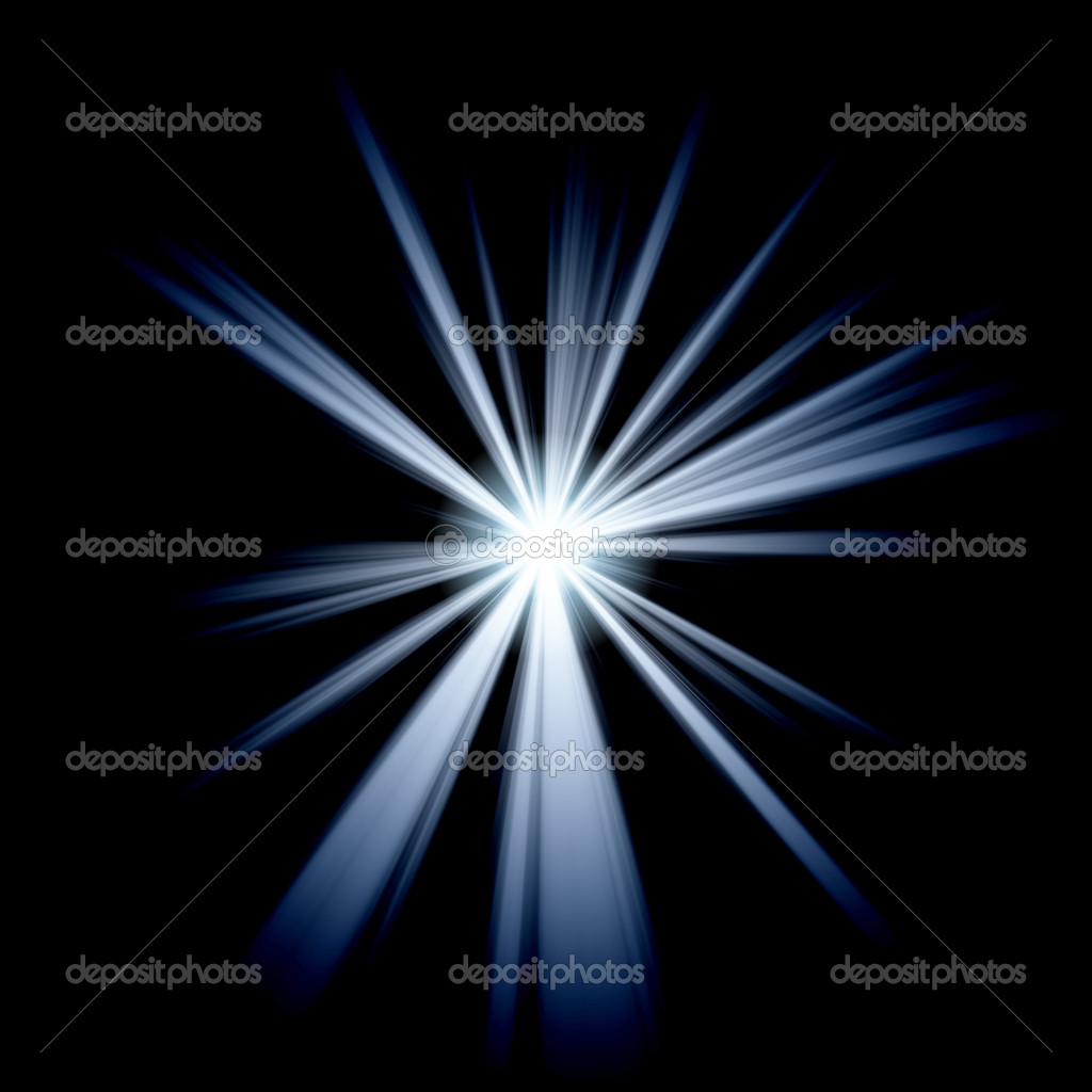 White blue star or supernova over black — Stock Photo #2274341