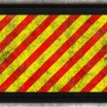 Hsl red yellow hazard — Stock Photo #2280057