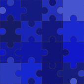 Blue jigsaw — Stock Photo