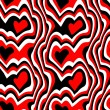 Red black hearts — Stock Photo #2506452