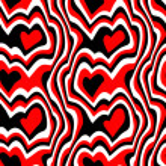 Red black hearts — Stock Photo