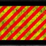 Sl red yellow hazard with black frame — Stock Photo #2508789