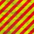 Red yellow grunge hazard — Stock Photo