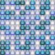 Stock Photo: Translucent blue marbles