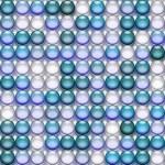 Translucent blue marbles — Stock Photo