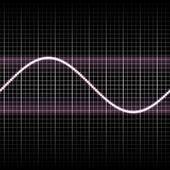 Sl simple sound waves — Stock Photo