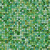 Smooth irregular green tiles — Stock Photo