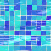 Sl submerged tiles big blue — Stock Photo