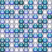 Translucent blue marbles — Stock Photo