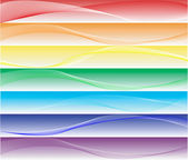Smooth rainbow banners — Stock Photo