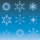 Snowflakes and stars — Stock Photo