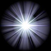 White blue star 2b — Stock Photo
