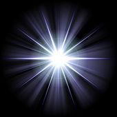 White blue star 2 — Stock Photo