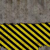 Yellow black hazrd — Stock Photo