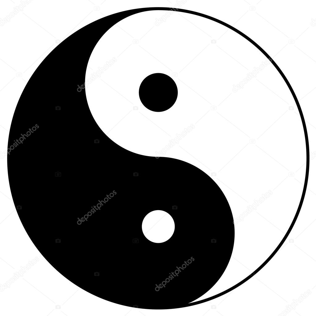 Yin yang, taoistic symbol of harmony and balance  Stock Photo #2516387