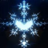 Blue Snow — Stock Photo