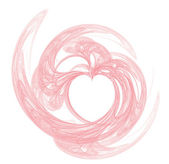 Complete Heart Strawberry Ice — Stock Photo