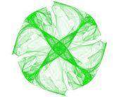 Green round dice — Stock Photo