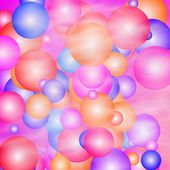 Smoky disco balloons — Stock Photo